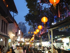 Evening view of Chinatown's Food Street