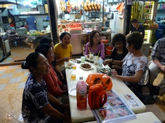 The ladies enjoying a night out at Newton Circus (L to R: Di Phuong, Di Tam, Ji Sung, Ann, Kaye, Ruby, and Penny)