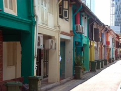 Colorful shophouses owned by young entrepreneurs line Haji Lane, giving Singapore a rare funky vibe