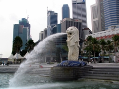 The symbol of Singapore is the Merlion