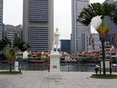 Statue of Sir Thomas Raffles, founder of Singapore