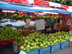 Fresh fruit display in Chinatown