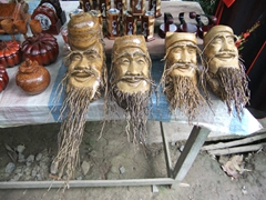 Coconut figurines for sale; My Tho