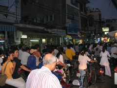 Crowded Saigon Street at rush hour