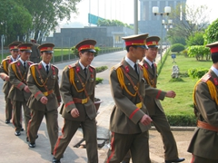 Changing of the Guard at Ho's Mausoleum, Hanoi