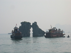 """Kissing Rooster"", Ha Long Bay"