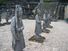 Guards of Khai Dinh Mausoleum
