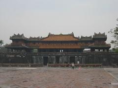 A misty morning as we explored Hue's Forbidden City