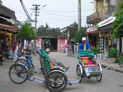 Rickshaws for hire in pretty Hoi An