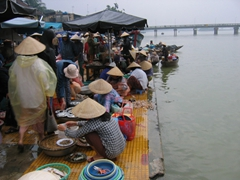Don't miss an early morning spectacle at the Hoi An Fish Market where hundreds of vendors congregate to sell the freshest seafood