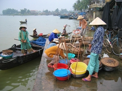 Another view of the Hoi An fishing market, where we were able to buy fresh seafood and hire a vendor to cook it for us at a great price