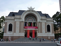 The Municipal Theatre (Saigon Opera House) is a fine example of French Colonial architecture in Saigon
