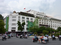 The famous Rex Hotel undergoing renovations; Saigon