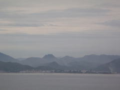 Misty mountain view of pretty Nha Trang