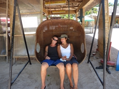 Chilin' in a rattan swing; Boracay