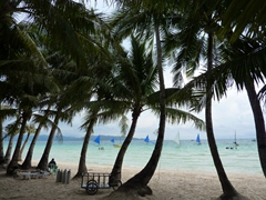 Boracay is the perfect vacation spot to while away the time, with swaying coconut trees and plenty of sailboats or bangkas to whisk you away