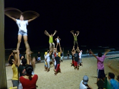 Late night dance practice; White Beach