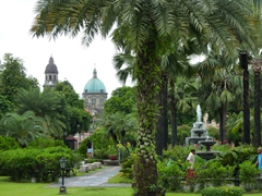 View of the Manila Cathedral from Fort Santiago