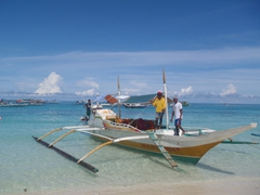 Hiring a bangka for the day costs no more than 500 pesos an hour, although bargain hard!