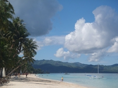 Boracay's stunning turquoise waters make for a popular tourist destination