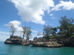 Gorgeous scenery abounds on our Boracay boat trip around the island