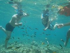 Cau Nam's first snorkeling experience; Crocodile Island