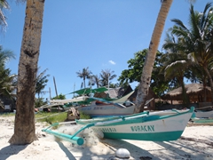 Bangka boats on Bulabog Beach