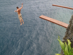 Luke takes a leap of faith at Ariel's Point
