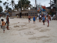 Boracay sand carvings