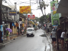 Lots of shops line Boracay's main strip