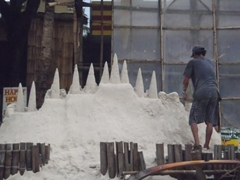 How the ubiquitous Boracay sand castle gets built