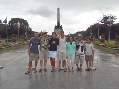 Family photo at Rizal Park