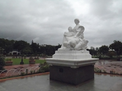 Rizal Park is an urban park full of statues in the center of Manila