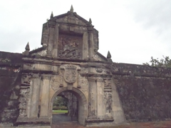 The main entrance to Fort Santiago which served as a fortress against marauding Chinese pirates, a prison for Spanish-era political prisoners, and a Japanese torture chamber in World War II