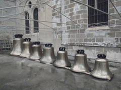 Church bells outside the Manila Cathedral; Intramuros
