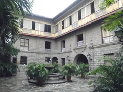 Interior courtyard of Casa Manila; Intramuros
