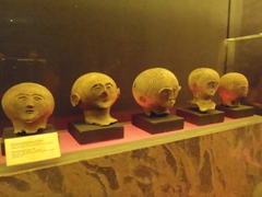 Death masks on display at the National Museum