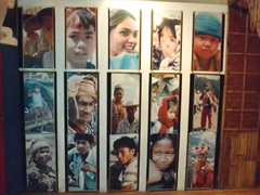 A series of revolving photographs of Filipino people; National Museum