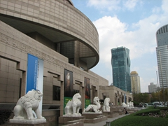 The super modern Shanghai Museum is worth a visit as there are excellent displays on view