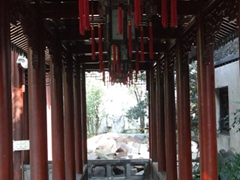 The Yu Gardens Bazaar was our first exposure to traditional Chinese gardens which always include stones and rockeries, plants, water, temples and bridges