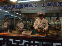 Mmmmm, yummy fresh crab dumplings prepared right in front of us