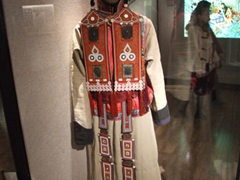 Colorful ethnic minority outfit; Minority Gallery at Shanghai Museum