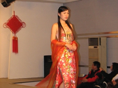 A model struts her stuff; Kaldi Silk Factory