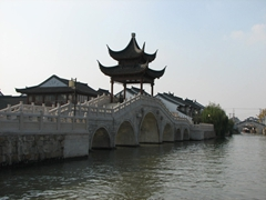 A bridge over Suzhou's canal system
