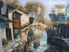 Lovely Suzhou paintings for sale at a shop at the Garden of the Master of the Nets