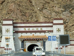 Our guide told us that before this tunnel was built, the ride from the airport to downtown Lhasa used to take over three hours as vehicles had to skirt around the mountain range
