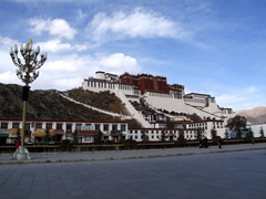 A gorgeous sight for travel weary eyes...we have finally arrived to Lhasa, a Himalayan Shangri La