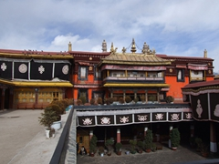 View of the Jokhang temple's interior courtyard