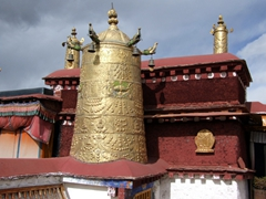 Detail of the Jokhang Temple rooftop