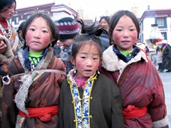 The cutest trio of girls we saw in Lhasa!